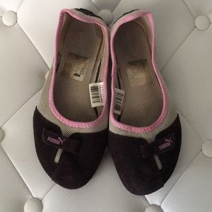 👠 Puma Flats Pink and Brown, size 6